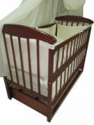 Акция! Комплект: Комод+ кроватка маятник Наталка+ матрас + постель. Новое