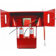 Fire shields and stands from the manufacturer