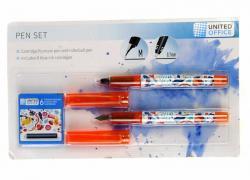 M18-470720, Набір ручок - 2 шт, помаранчевий-різнобарвний