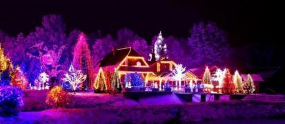 Новогоднее освещение, гирлянды, иллюминации в Киеве