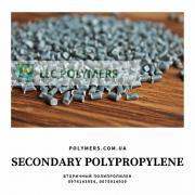 Вторинний поліпропілен (ПП), сірий, гранули. Вторинний полістирол